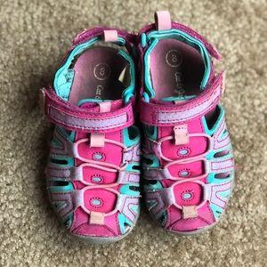Pink/blue sandals